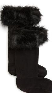 Faux Fur Cuff Tall Boot Sock sz L